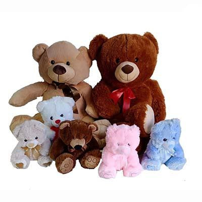 Teddy bears various size soft toys
