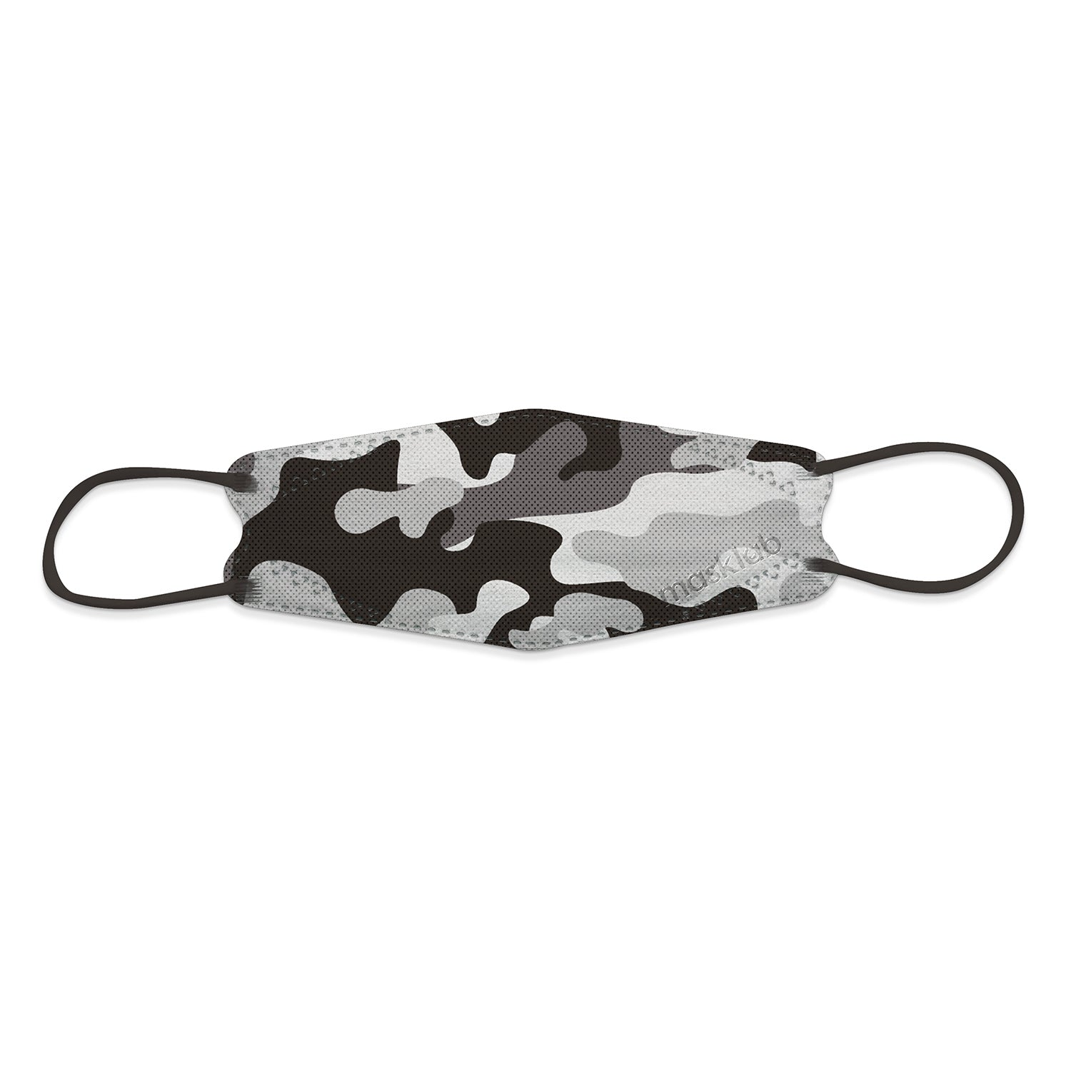 GREY CAMOUFLAGE KOREAN-STYLE RESPIRATOR (10-PACK)