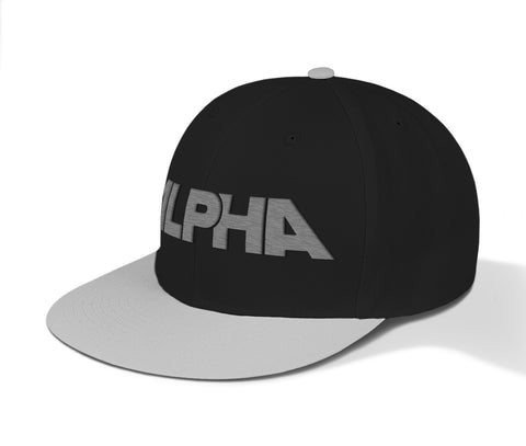 ALPHA Fit Snapbacks - Black+Grey/White