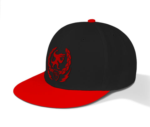 TeamTGL Fit Snapbacks - Red+Black