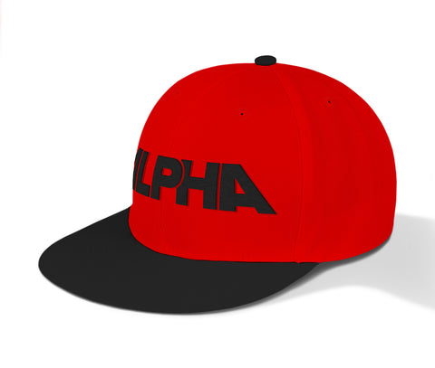ALPHA Fit Snapbacks - Red+Black coloured