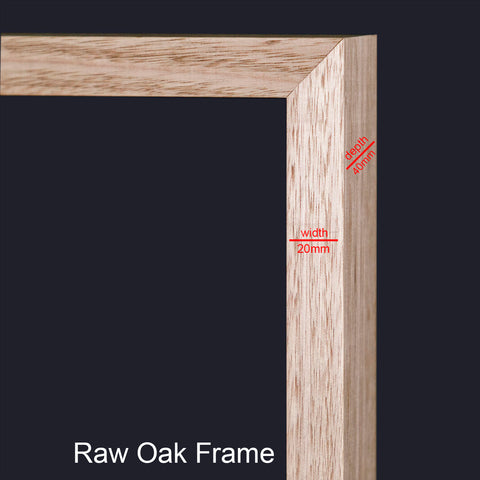 Raw Oak Frame