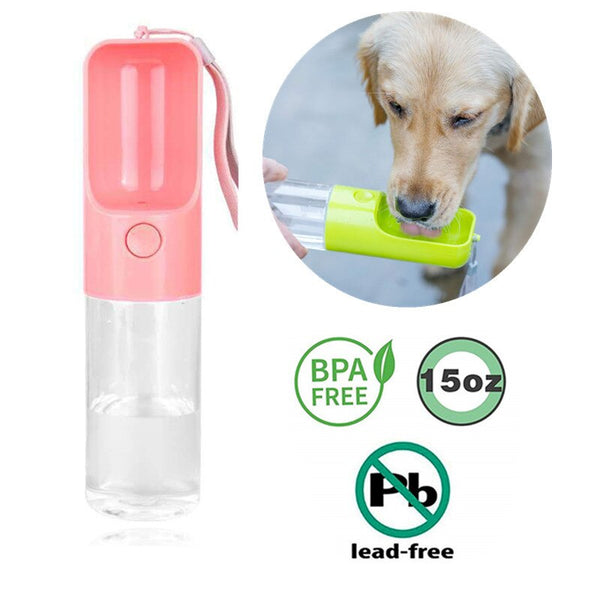 Bouteille d'eau pour chien pour la marche, Portable Pet Travel Water Drink Cup Mug Dish Bowl Dispenser, Made of Food-Grade Material 23JunO5