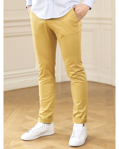 Chino Clermont jaune moutarde