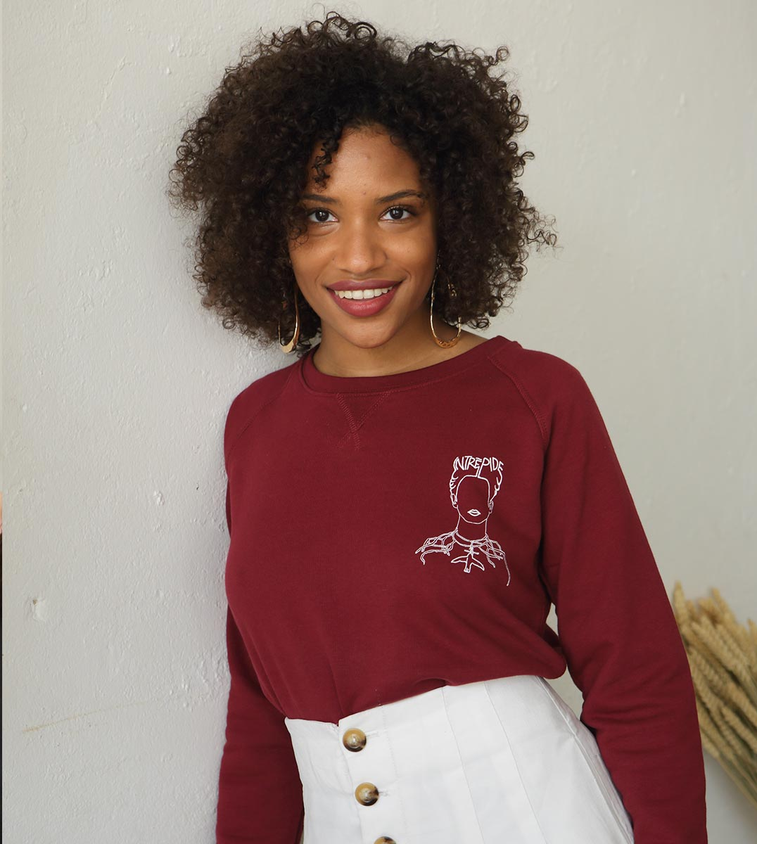 Sweatshirt bordeaux Frida