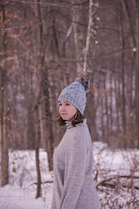 The Mary Hat Knit Pattern in Super Bulky yarn.