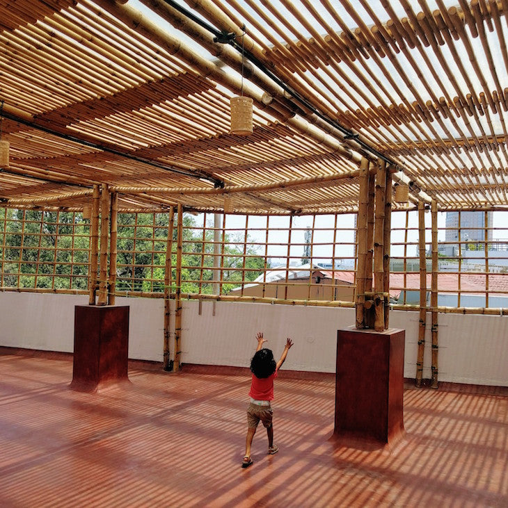 Bamboopecker Bamboo Terrace yoga hall 7