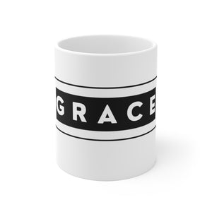 Grace-White Ceramic Mug