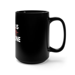 Lifeline-Black Mug 15oz