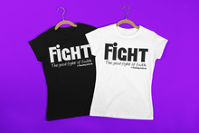 Load image into Gallery viewer, FIGHT-Women's Roll Cuff T-Shirt