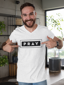 PRAY-MEN'S Fitted Cotton/Poly T-Shirt