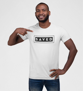 SAVED-MEN'S Fitted Cotton/Poly T-Shirt