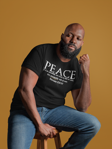 PEACE-Fitted Cotton/Poly T-Shirt