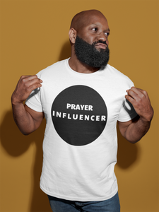 PRAYER INFLUENCER-MEN'S Fitted Cotton/Poly T-Shirt