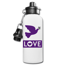 Load image into Gallery viewer, LOVE Water Bottle - white