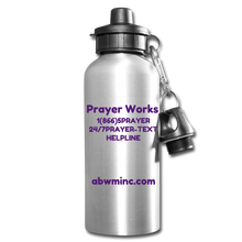 Load image into Gallery viewer, LOVE Water Bottle - silver