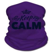 Load image into Gallery viewer, Keep Calm Neck Gaiter/Scarf - purple