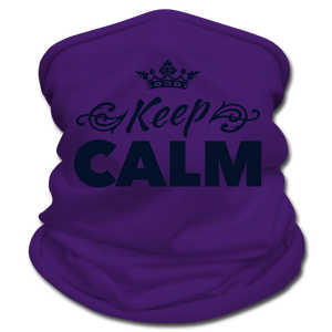Keep Calm Neck Gaiter/Scarf - purple