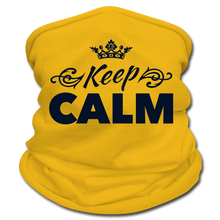 Load image into Gallery viewer, Keep Calm Neck Gaiter/Scarf - sun yellow