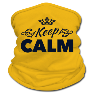 Keep Calm Neck Gaiter/Scarf - sun yellow