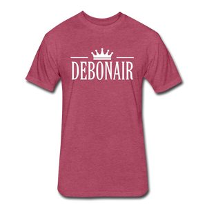 Men's Premium Fitted Cotton/Poly T-Shirt by Next Level - heather burgundy
