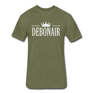 Men's Premium Fitted Cotton/Poly T-Shirt by Next Level - heather military green