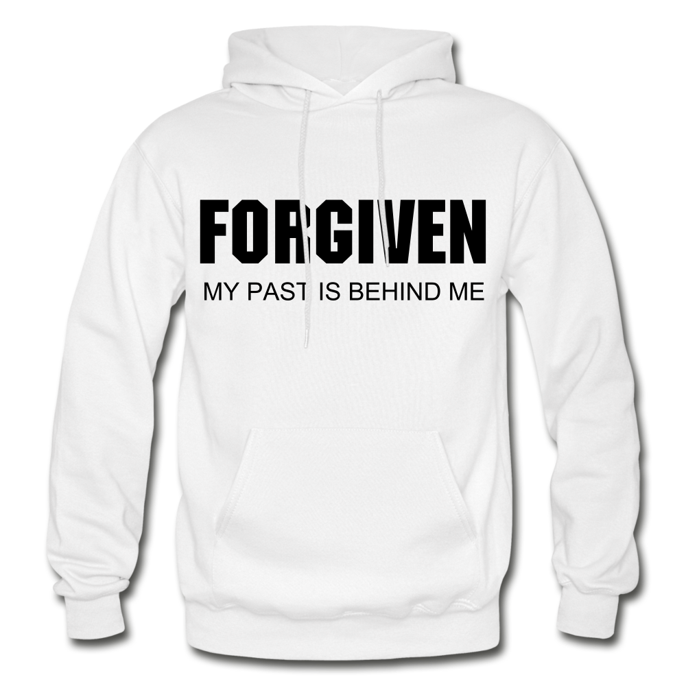FORGIVEN-Men's Premium Heavy Blend Adult Hoodie - white
