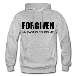 FORGIVEN-Men's Premium Heavy Blend Adult Hoodie - heather gray