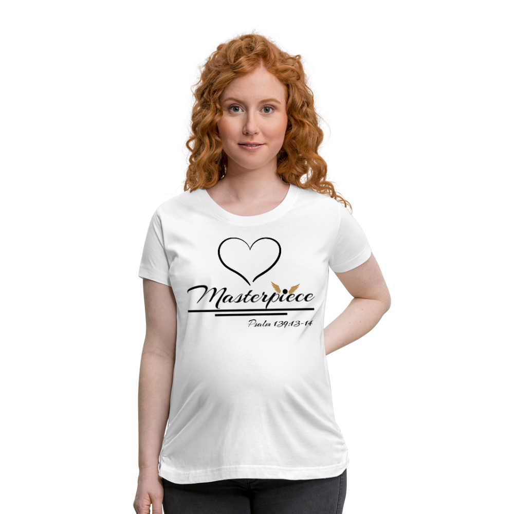 Master Piece -Premium Women's Maternity T-Shirt - white