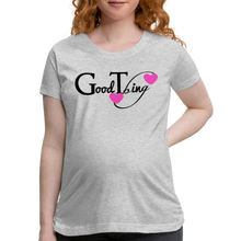 Load image into Gallery viewer, Good Thing Premium-Women's Maternity T-Shirt - heather gray
