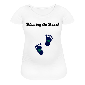 Blessing On Board-Premium Women's Maternity T-Shirt - white