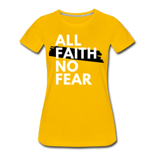 Load image into Gallery viewer, NO FEAR-Women's Premium T-Shirt - sun yellow