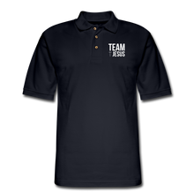 Load image into Gallery viewer, TEAM JESUS PASTOR-Men's Pique Polo Shirt - midnight navy