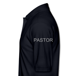 TEAM JESUS PASTOR-Men's Pique Polo Shirt - midnight navy