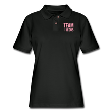 Load image into Gallery viewer, PASTOR TEAM JESUS-Women's Pique Polo Shirt - black