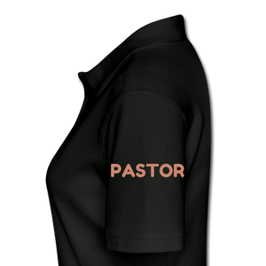 PASTOR TEAM JESUS-Women's Pique Polo Shirt - black