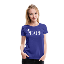 Load image into Gallery viewer, PEACE-Premium Woman's T - royal blue