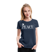 Load image into Gallery viewer, PEACE-Premium Woman's T - navy