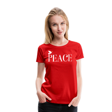 Load image into Gallery viewer, PEACE-Premium Woman's T - red