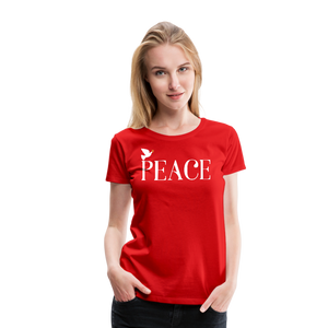 PEACE-Premium Woman's T - red