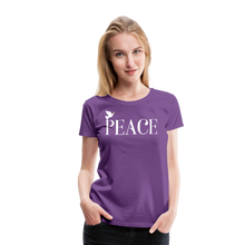 Load image into Gallery viewer, PEACE-Premium Woman's T - purple