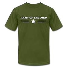 Load image into Gallery viewer, ARMY OF THE LORD-Unisex Jersey T-Shirt by Bella + Canvas - olive