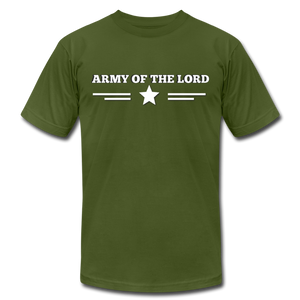 ARMY OF THE LORD-Unisex Jersey T-Shirt by Bella + Canvas - olive