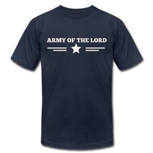 ARMY OF THE LORD-Unisex Jersey T-Shirt by Bella + Canvas - navy