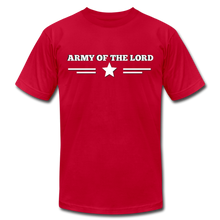 Load image into Gallery viewer, ARMY OF THE LORD-Unisex Jersey T-Shirt by Bella + Canvas - red