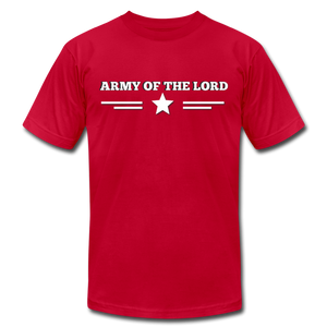 ARMY OF THE LORD-Unisex Jersey T-Shirt by Bella + Canvas - red