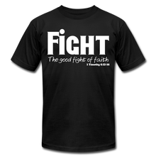 Load image into Gallery viewer, FIGHT-MEN'S PREMIUM Jersey T-Shirt by Bella + Canvas - black