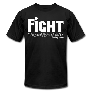 FIGHT-MEN'S PREMIUM Jersey T-Shirt by Bella + Canvas - black