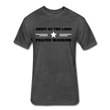 Load image into Gallery viewer, ARMY OF THE LORD-MEN'S PREMIUM Fitted Cotton/Poly T-Shirt by Next Level - heather black