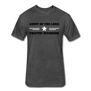 ARMY OF THE LORD-MEN'S PREMIUM Fitted Cotton/Poly T-Shirt by Next Level - heather black